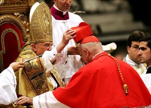 John Patrick Foley was ordained as Cardinal of the present Pope
