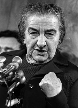 The former Prime Minister of Israel Golda Meir