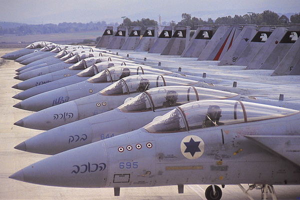 The Israeli Air Force can enter Arabic air space whenever needed. Based on Israeli technology and brilliant pilots