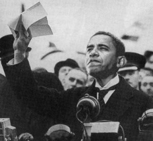 Obama as Chamberlain. Who would have guessed this would be the outcome of the US elections?