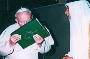 The pope kisses the Koran. He playes double games, and do not represent God of the Bible
