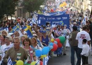 The Jerusalem March in one of the main events in Israel where Christians from all over the World display their support for Israel and the Jewish people.