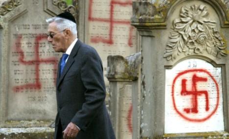 FRANCE JEWISH VANDALISED GRAVES