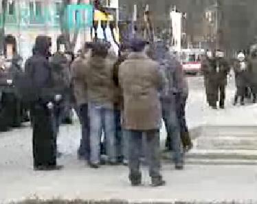 Wicked men in Moldova removes a Jewish Mennorah in a public square.