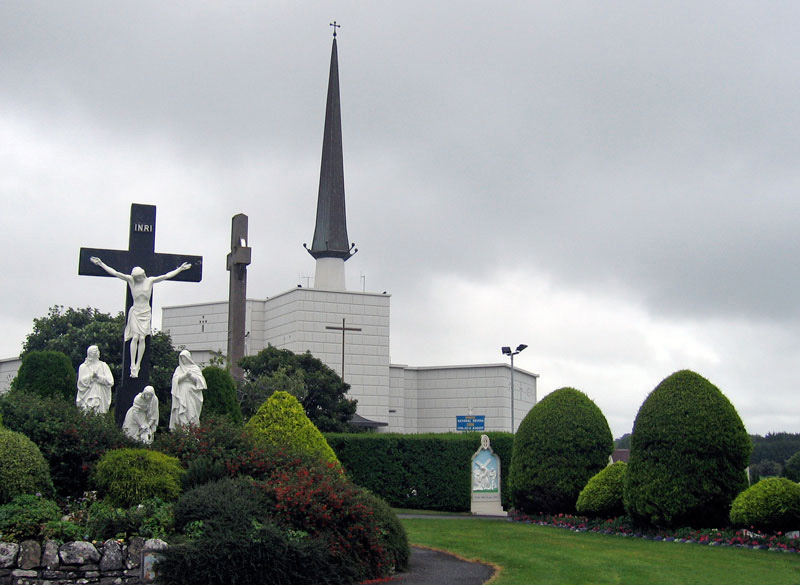Catholics looking for Mary in the air over this Church in Ireland got their eyesight damaged.