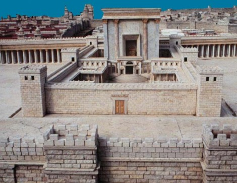 A mondel of the second Temple in Jerusalem, destroyed in 70 A.D by the Romans.