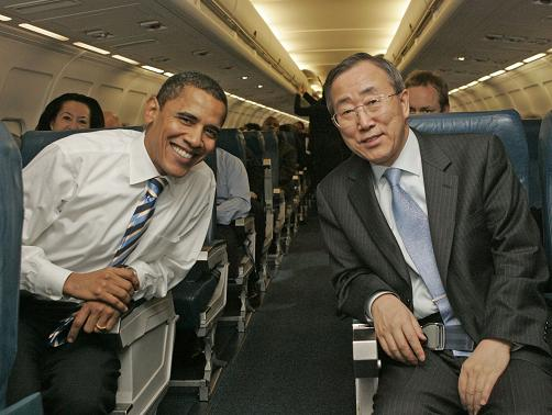 Banki-moon puppet for Obama
