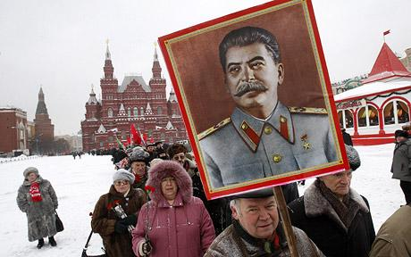 Russians parade on the birthday of Stalin. Many Russian Jews got fooled my him.