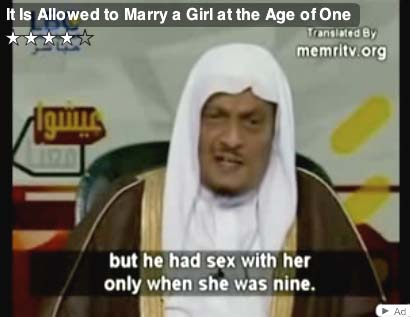 Child marriages are baned by law in the Christian World, and sex with minors ...