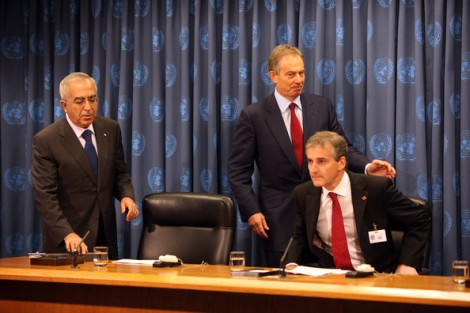 Salaam Fayyad, Tony Blair and Norways Foreign Minister Jonas Gahr Støre are going to bring «peace» to Israel.