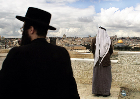 The hostility between the palestinian jews and arabs