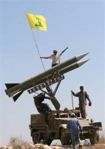 HizbAllah's rockets pointing at Israel