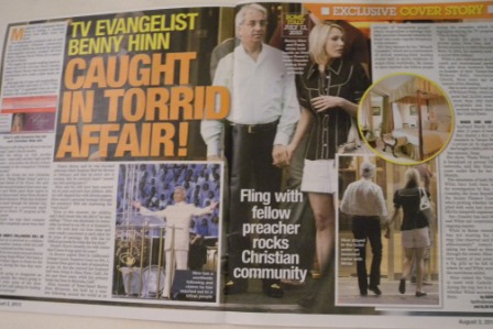 Benny Hinn and Paula White, hand in hand in Rome, claiming to have official work in the Vatican.