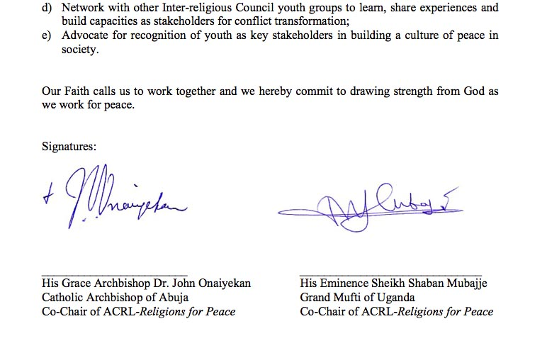 Paving the way for the one world religion of global peacemakers will their signatures of peace bring any of these two religious leaders closer to jesus of the bible so they can be saved from this corrupt generation spiritdancerdesigns