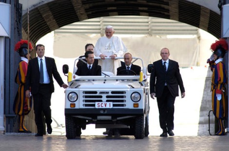 The security chiefs around the Pope, and the head of protection of the Vatican state.