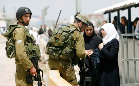 Only Israeli soldiers can keep the Jewish state safe. Her from a checkpoint outside Nablus.