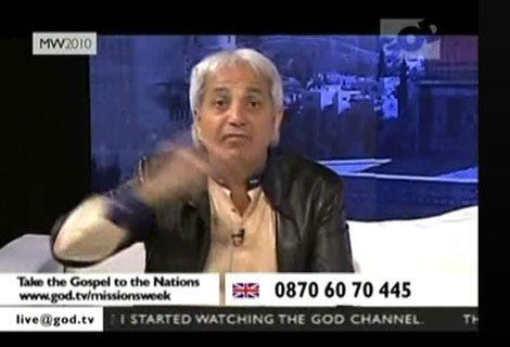 "Benny Hinn follows a ""Jesus"" that could not save anyone."