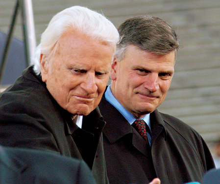 billy graham freemason. Billy and Franklin Graham both