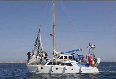 "A not to impressive ""aid boat"" loaded with claimed to be Jews will challenge the Israeli navy."