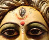 Hindu Goddess Kali bear the same mark on her forehead. The mark of death.