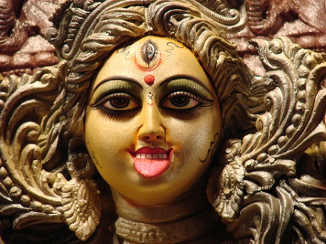An idol of the Hindu goddess Kali, the goddess that brings untimely death.