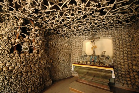 Roman Catholic chapel in Poland with 24.000 skulls and skeletons