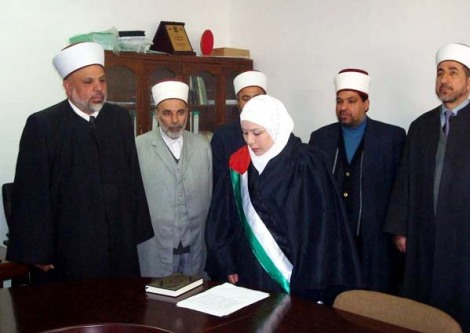 Dr. Tayseer Rajab Al-Tamimi heads a court that administer laws similar to the laws in Nazi-Germany in regards to Jews.