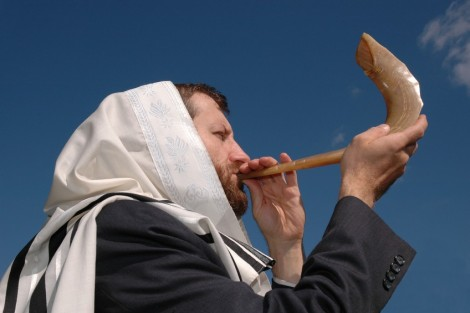 Many religious Jews will blow the shofar to call to rest at the beginning of the Day of Atonement.