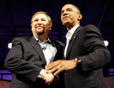 The World needs more good works by good men, explains Rick Warren. On of these good men of Warren is Obama.
