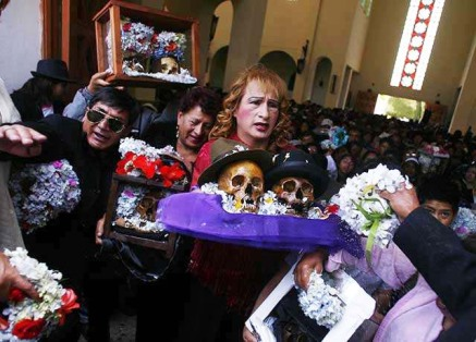 The Catholics in Bolivia celebrate the spirit of death.