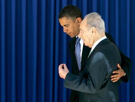 Shimon Peres puts his faith and trust in the Obama Adminsitration. That is a major error.