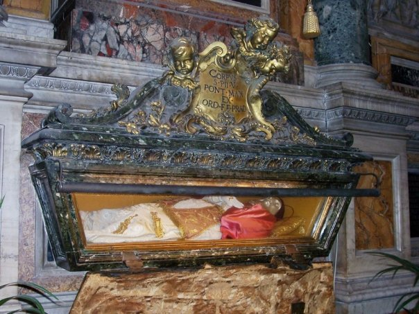 Image result for st peters basilica dead bodies on display