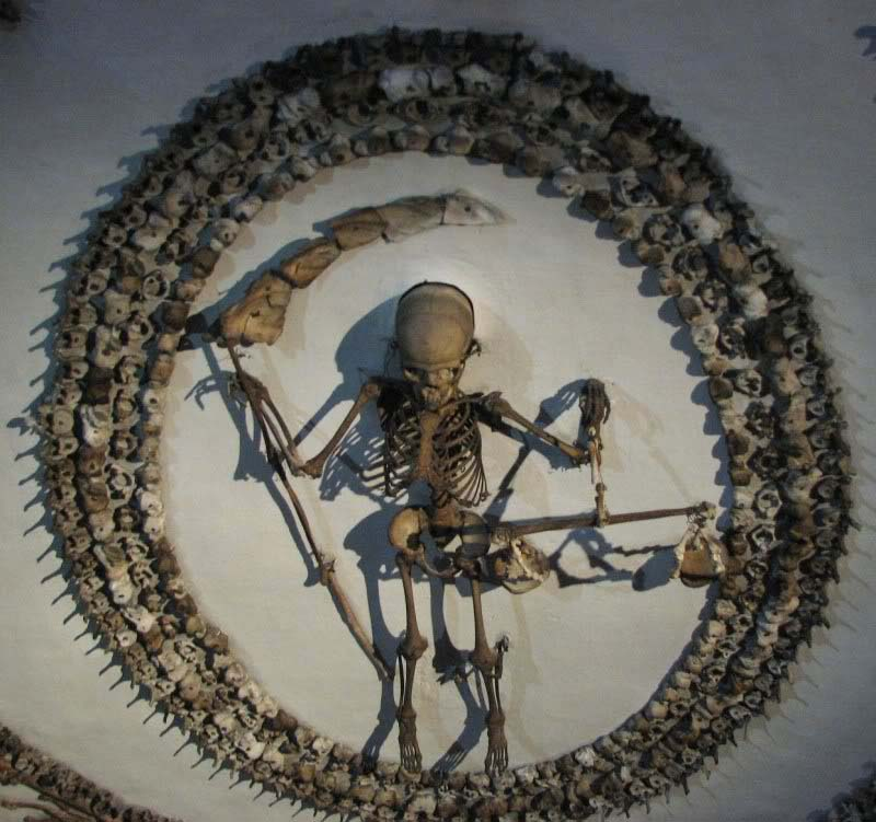 4 000 Skeletons In Crypt In Roman Catholic Church In Rome