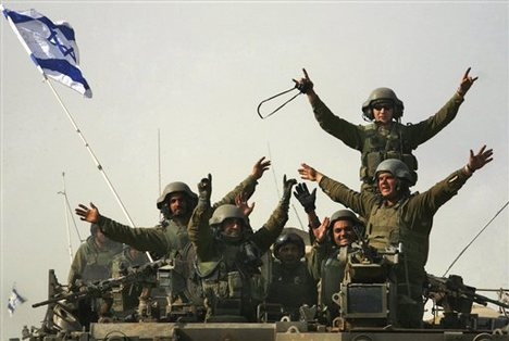 God of the Bible has used a strong Israeli army to secure todays borders around Israel.