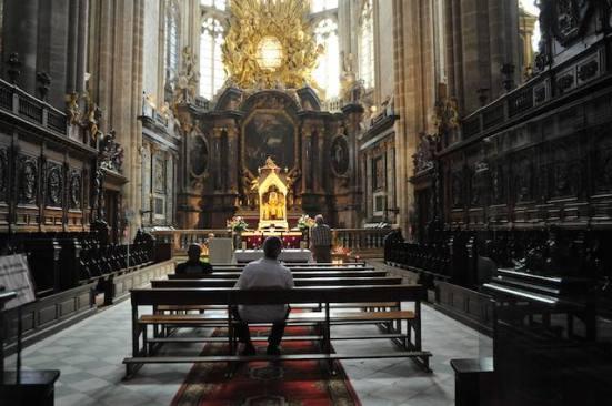 Statues Inside Catholic Church