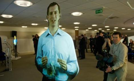 London Luton is one of two small airports in Britain that make use of holographic images.