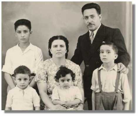 A Jewish family in Libya. Today, Libya is as clenased for Jews as Nazi-Germany was.