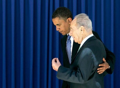 "Shimon Peres looing for ""peace"" in the wrong places. Obama is surely no ""price of peace""."