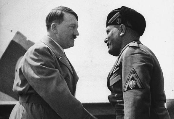 an analysis of the world war two and the role of benito mussolini of italy and adolf hitler of germa