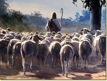 The Good Shepherd dans immagini sacre sheepfollowing