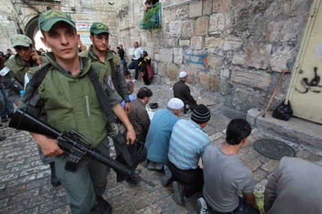 Police in Jeursalem had to storm the Temple Mount to stop Muslims who hurdle stones.