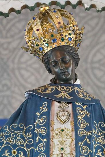 "The black queen of heaven, the mother of the pope , ""our lady of"