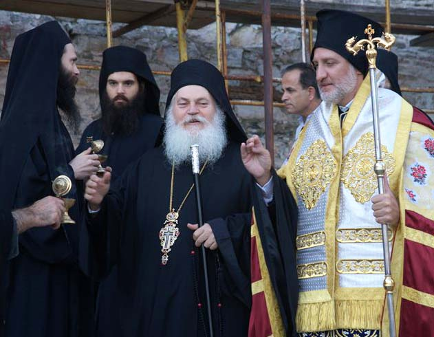 The Greek religios leader in the center of fraud.