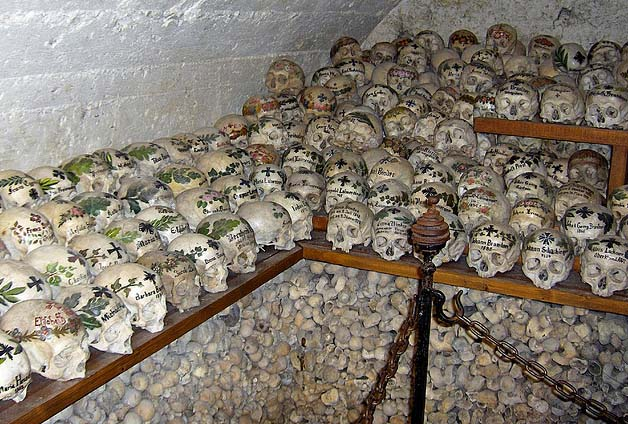 The Roman Catholic Priests In Hallstatt Killed Christians, Cut Their Skulls  Of The Skeletons And Decorated Some Of Those They Had Beheaded. Nice Design