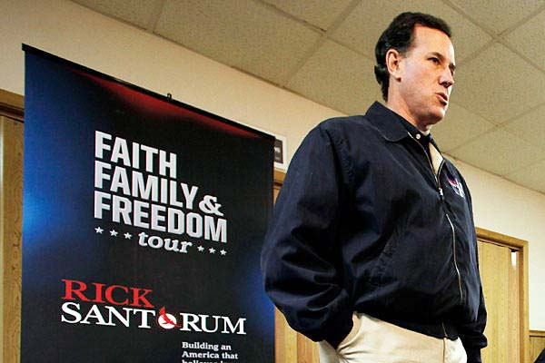 Rick Santorum fights for the Pope, and is a member of an Order that tried to retake Jerusalem for the Papacy.