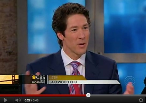 "Joel Osteen has no objections to all who claim ""Christ"" being son of God."