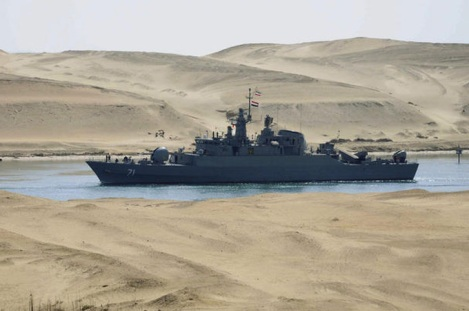 Iranian warships in the Suez in February 2011. The World alliance against Israel is being formed.