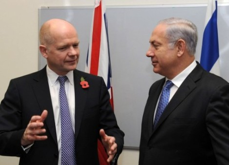 British Foreign Minister William Hague misguides Israel, and is ready to betray her.