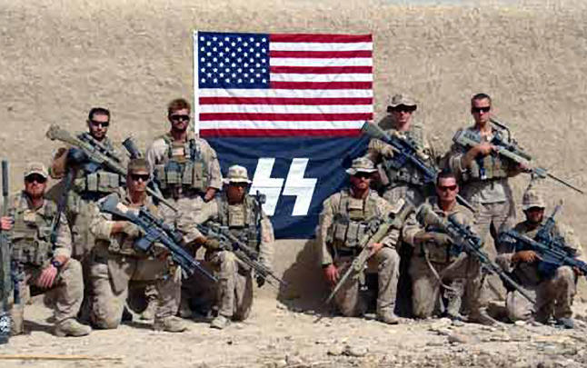 Image result for us soldiers waffen ss