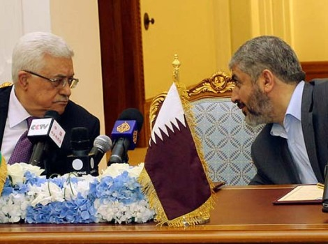 "PLO-Abbas and Hamas-Mashaal unite in a bid to get accpet for the state of ""Palestine""."